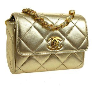 CHANEL Quilted CC Single Chain Mini Shoulder Bag